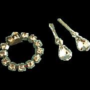 Vintage Orig. Madame Alexander Cissy Rhinestone Doll Jewelry Bracelet Earrings