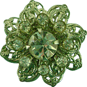 Vintage Doll Jewelry Rhinestone Brooch & Flowers for Madame Alexander Cissy