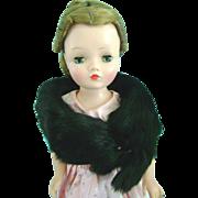 Vintage Mink Fur Stole Madame Alexander Cissy Doll Miss Revlon Terri Lee