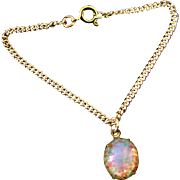 Vintage Doll Jewelry Opal Rhinestone Necklace Madame Alexander Cissy Miss Revlon