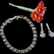 Vintage Rhinestone Doll Jewelry Necklace Earrings Madame Alexander Cissy Miss Revlon