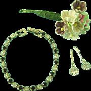 Vintage Rhinestone Doll Jewelry Necklace Earrings Madame Alexander Cissy Revlon
