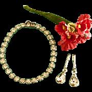 Vintage Orig. Madame Alexander Cissy Rhinestone Doll Jewelry Necklace Earrings