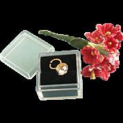 "Vintage Madame Alexander Cissy Doll Jewelry ""Diamond"" Ring Flower Bouquet Bride"
