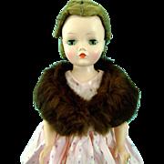 Vintage Genuine Fur Stole Madame Alexander Cissy Doll Miss Revlon Toni Dollikins