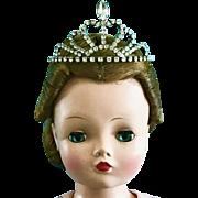 Vintage Doll Crown Tiara Madame Alexander Cissy Queen Glamour Girls Miss Revlon