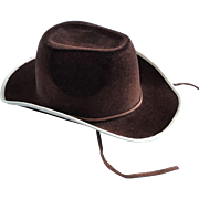Vintage Cowboy Hat for Ideal Composition Shirley Temple Ranger Doll