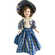 "Vintage 1930's Ideal Deanna Durbin 20"" Composition Doll in Orig Clothes Dress"