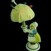 Vintage Antique Half Doll Pin Cushion Porcelain Dutch Girl German Figurine