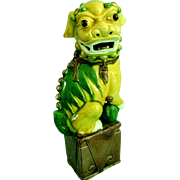 Vintage Chinese Porcelain Foo Dog Statue Figure Figurine