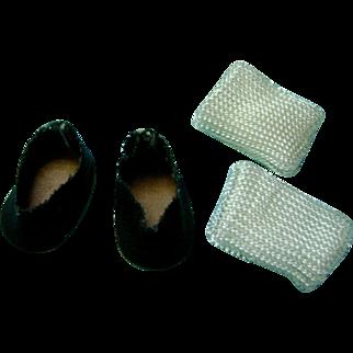 Vintage Oilcloth Doll Shoes Socks Ginger Madame Alexander Vogue Ginny Toddles
