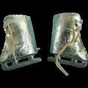 Vintage Silver Doll Ice Skates Mary Hoyer Madame Alexander Sonja Henie Babs