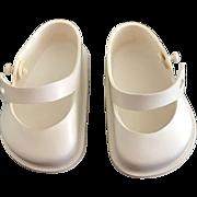 "Vintage ORIGINAL Ideal 1950's White Doll Shoes Toni P91 & 17"" Shirley Temple"