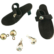 Vintage Vogue Jill Doll Shoes & Jewelry Little Miss Revlon Ginger Coty Girl Toni