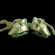 Vintage Oilcloth Doll Shoes Ice Skates Madame Alexander Arranbee Littlest Angel