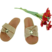 Vintage Original Madame Alexander Lissy Doll Shoes Rhinestone Sandals Heels