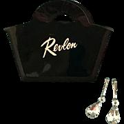 "Vintage ORIG Ideal Little Miss Revlon ""Signature"" Doll Purse Handbag w/ Jewelry"