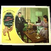 Vintage 1945 Sonja Henie Movie Theater Lobby Card It's a Pleasure Michael O'Shea