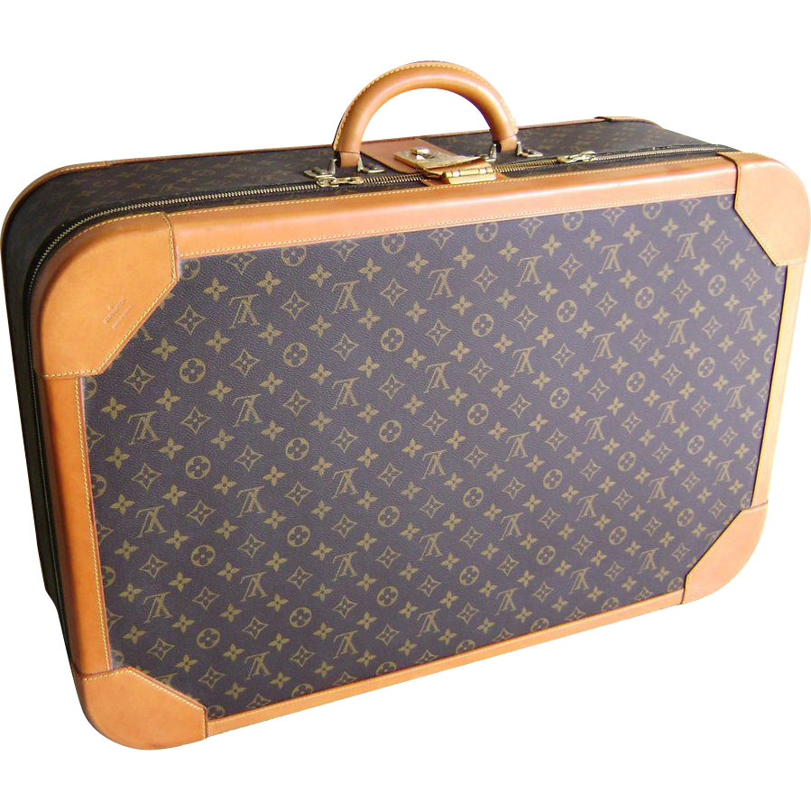 vintage 1980 u0026 39 s louis vuitton monogram luggage 27 5 inch suitcase   family affair collectibles