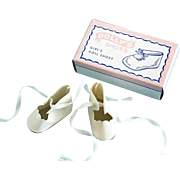 Vintage MIB Oilcloth Doll Shoes Shirley Temple Patsykin Toni Madame Alexander