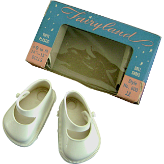 Vintage MIB 1950's Doll Shoes for Ideal Toni P90 15 inch Shirley Temple