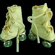 Vintage Oilcloth Doll Roller Skates Mary Hoyer Madame Alexander Sonja Henie Babs