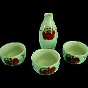 Vintage Japanese Porcelain Sake Set Signed