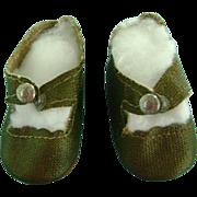 Vintage Oilcloth Snap Doll Shoes Ideal Toni Deanna Durbin Madame Alexander Nina