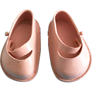 "Vintage 1950's Pink Doll Shoes for Ideal Toni P91 & 17"" Shirley Temple"