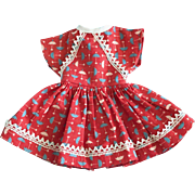 Vintage Original 12 in. Ideal Shirley Temple Doll Clothes Umbrella Print Dress