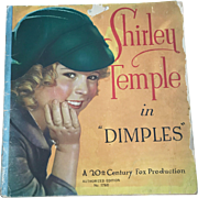 "Vintage 1936 Saalfield 1760 ""Shirley Temple in Dimples"" Book from the Movie"
