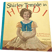 """Vintage 1937 Saalfield No. 1771 """"Shirley Temple in Heidi"""" Book from the Movie"""