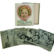 NMIB Vintage 1936 Saalfield Shirley Temple 5 Book Set to display with Doll