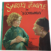 """Vintage 1937 Saalfield 1767 """"Shirley Temple in Stowaway"""" Book from the Movie"""