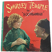 "Vintage 1937 Saalfield 1767 ""Shirley Temple in Stowaway"" Book from the Movie"