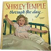 """Vintage 1936 Saalfield 1716 """"Shirley Temple Through the Day"""" Book"""