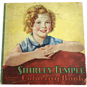 Vintage 1937 Saalfield 1772 Shirley Temple Great Big Book Drawing Coloring Book