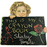 """Vintage 1935 Saalfield 1711 Shirley Temple """"This is My Crayon Book"""" Coloring - Red Tag Sale Item"""