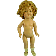 """RARE 17"""" Vintage Composition Shirley Temple Doll with Original Shoes & Socks"""