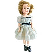 "Vintage 1950's 19"" Vinyl Ideal Shirley Temple Doll in Orig. TAGGED Dress Clothes"