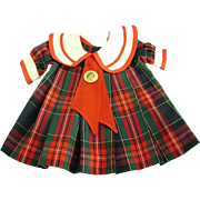 """""""Bright Eyes"""" Dress made for Vintage Shirley Temple 27 inch Composition Doll"""