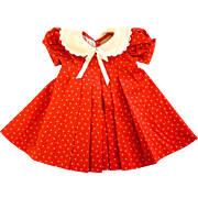"""Loop"" Dress made for Vintage Shirley Temple 27 inch Composition Doll"