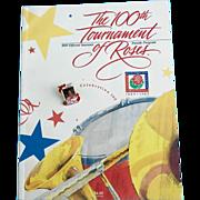 Vintage 100th Tournament of Roses Souvenir Parade Program Shirley Temple w/ Pin