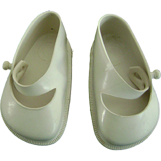 Vintage Original Terri Lee White Doll Shoes fit Ideal Toni P93 too!