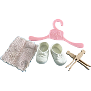 Vintage Orig Tiny Tears Doll Shoes Clothes Pins Betsy Wetsy Dy-Dee Baby Hanger