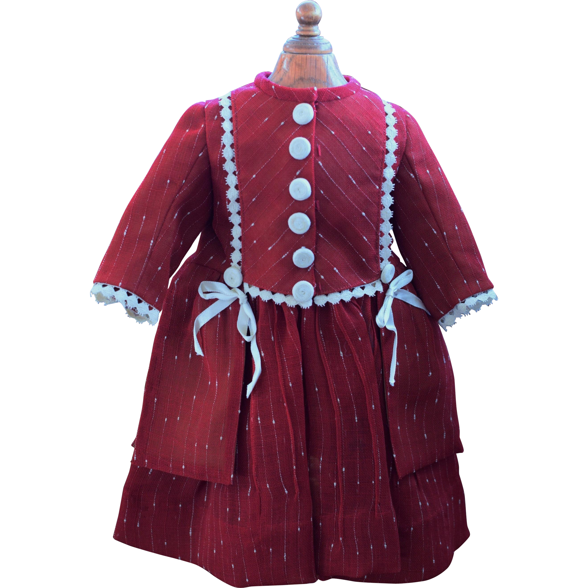 Sweet French Cut Red Doll Dress