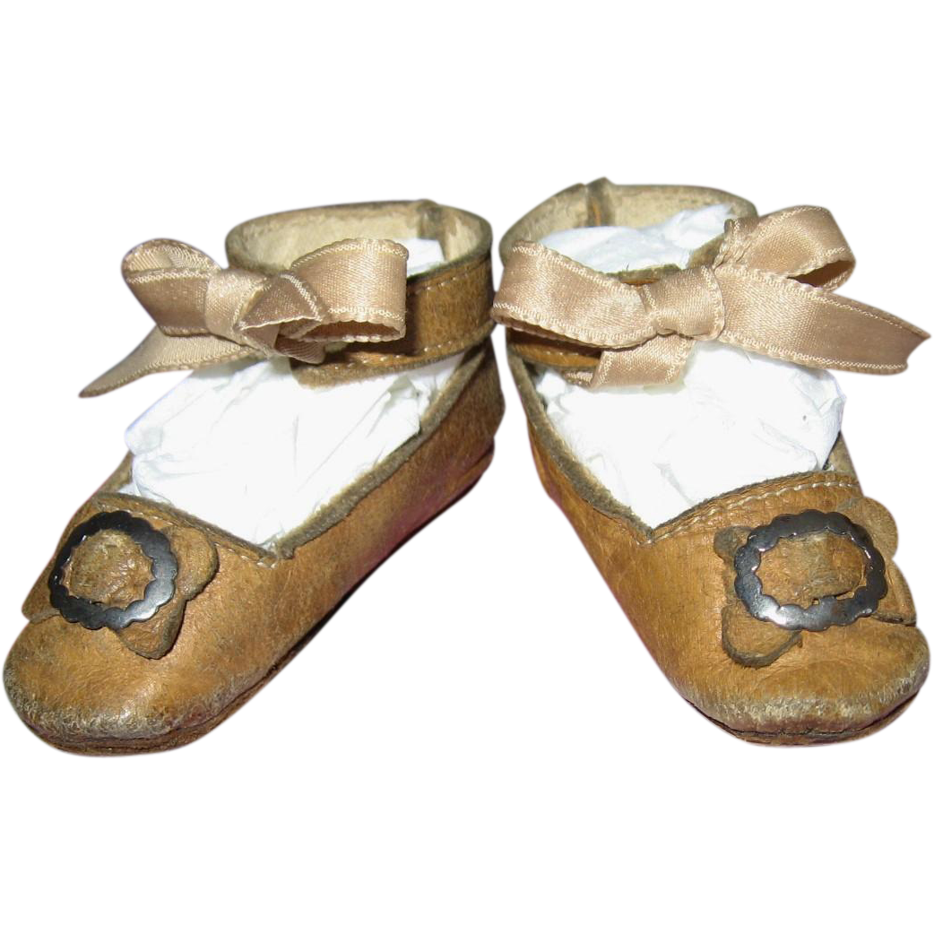 Antique Leather Doll Shoes