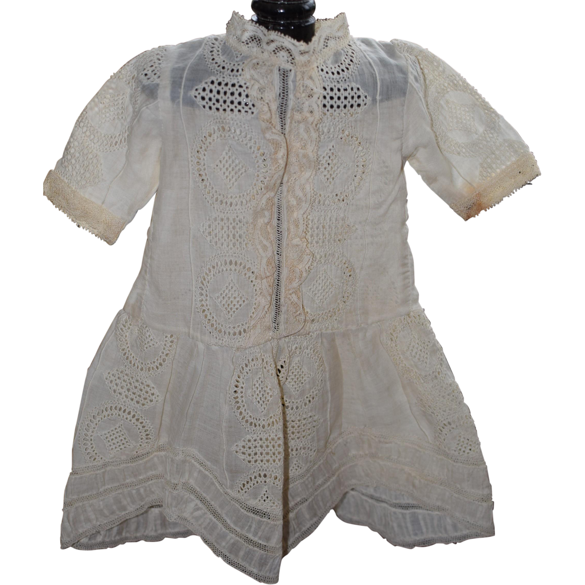 Sweet Embroidered Cotton Dress
