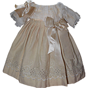 Sweet Cream Colored Wool Doll Dress