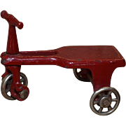Antique Dollhouse Tricycle Scooter